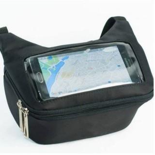 Túi treo đầu xe máy xem điện thoại, chứa đồ, đi phượt, xe ôm công nghệ