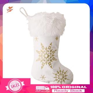 Supermal Lightweight Candy Gift Socks Wide Application Christmas Hanging Socks Reusable for Home