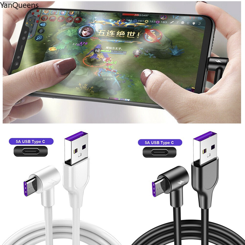 COD 90 Degree Type C USB Charging Cable Right Angle Data