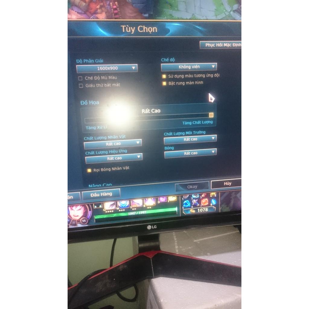 Thùng máy chơi mượt liên minh (LMHT) max setting