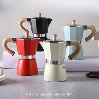 Máy pha cà phê Moka pot hộ gia đình bình pha cà phê bằng tay Ý máy pha cà phê espresso nhỏ espresso bộ nồi nhỏ giọt thumbnail