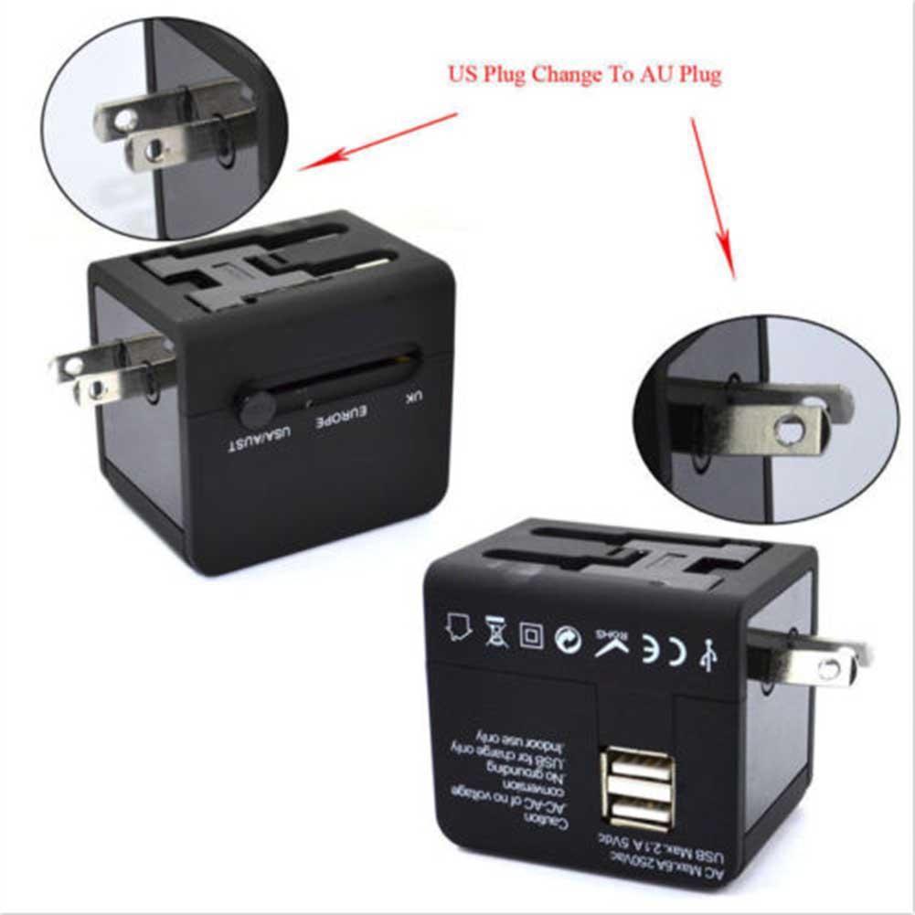 Chốt chuyển đổi điện đa năng cổng USB tiện dụng cho du lịch