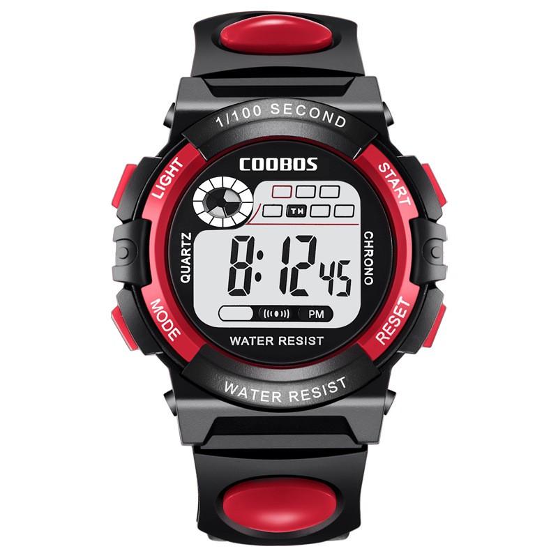 [Mã FAMAYFA2 giảm 10K đơn 50K] Đồng hồ trẻ em dây nhưa thể thao Coobos 0118