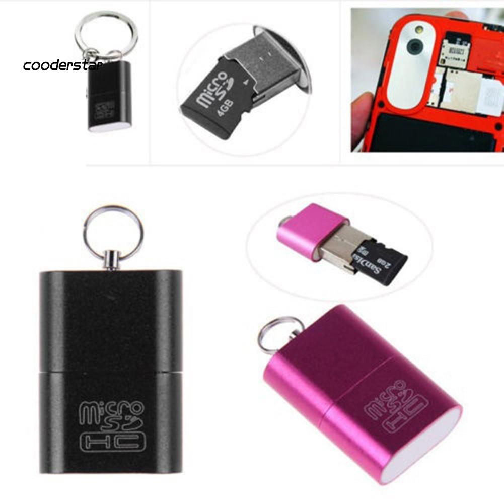 Đầu Đọc Thẻ Nhớ Mini Usb 2.0 Micro Sd Tf T-flash Lên Đến 480mbps