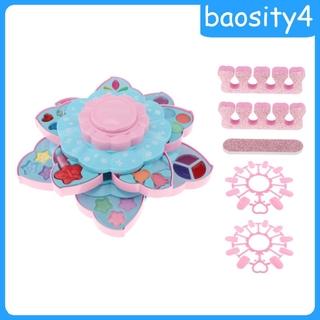 [baosity4]Princess Girls Makeup Play Set Box Cosmetic Vanity For Kids Double Layer