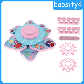[baosity4]Princess Girls Makeup Play Set Box Cosmetic Vanity For Kids Double Layer