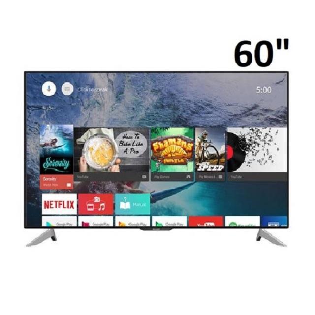 Sharp แอลอีดีทีวี AQUOS LED UHD 4K TV Smart Android TV ขนาด 60 นิ้ว รุ่น LC-60UA6800X (จำกัด1เครื่องต่อ1คำสั่งซื้อจ้า)