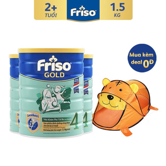 Combo 3 Lon Sữa Bột Friso Gold 4 (1500G/Lon)