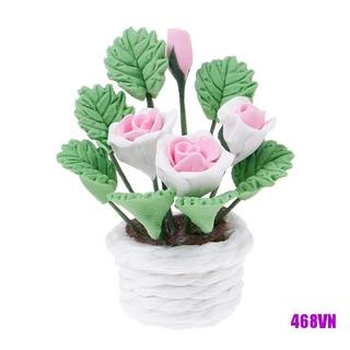 [DOU]1:12 Dollhouse miniature flowers for dollhouse room living room decor toy