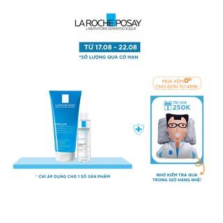 Bộ sư a rư a mă t da ng gel rửa mặt làm sạch giảm nhờn La Roche-Posay 200ml nước tẩy trang 50ml