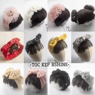 [SẴN _ MẪU MỚI] Tóc giả tóc mái kèm băng đô dễ thương cho bé gái – HÀNG CAO CẤP XUẤT HÀN