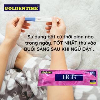 Que thử thai bút thử thai test nhanh độ chính xác cao của Goldentime 2