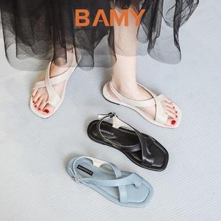 Giày (Dép) Sandal nữ xỏ ngón 2 quai chéo BAMY đế bệt, dép quai hậu học sinh đi học. đi chơi, đi biển thumbnail