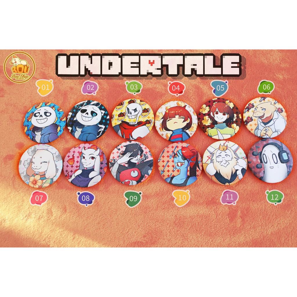 Huy hiệu Undertale Sans 36 MẪU NHŨ các phiên bản Game Pin Lấp Lánh