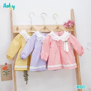 Váy trẻ em ILABY kẻ tai thỏ kèm chip cho bé từ 3 - 18 tháng tuổi [K01] thumbnail