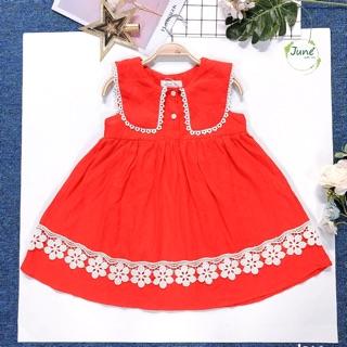 Đầm June đỏ siêu cute 1-10t