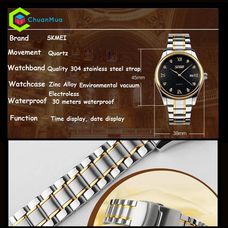 Đồng hồ Nam Skmei 9101 số kim cương DHA345