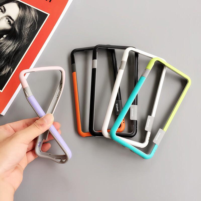 Ốp điện thoại viền cao su nhiều màu dành cho iPhone11 XSMAX XR 7/8PLUS 6/6S 7/8 6SP