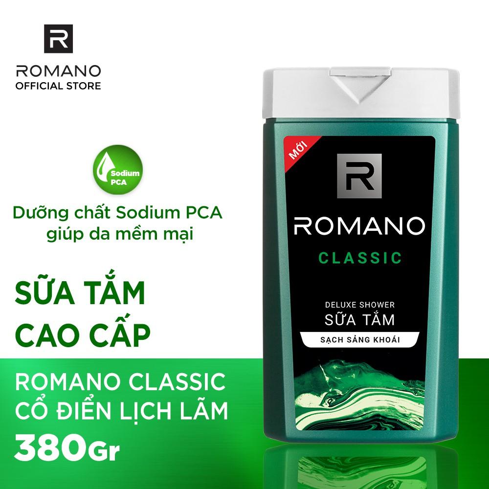 Sữa tắm Romano Classic hương nước hoa 380g