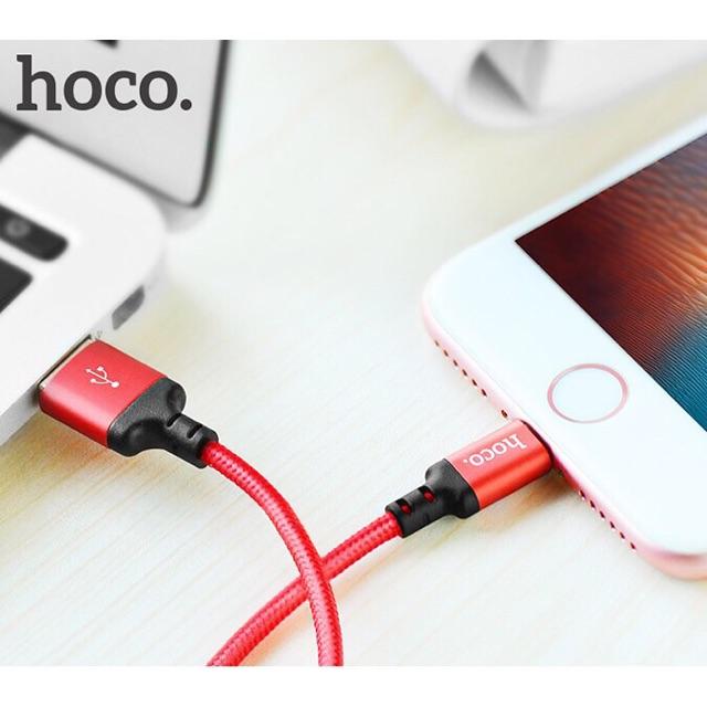 Cáp Lightning Hoco X14 dài 1m sạc Iphone, Ipad chính hãng