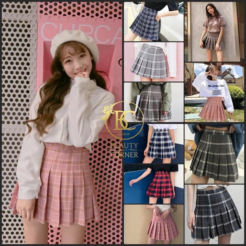 [Mã WAGREEN35 giảm 35k đơn 300k] Váy Chân Váy Tennis Skirt Caro Korea kẻ