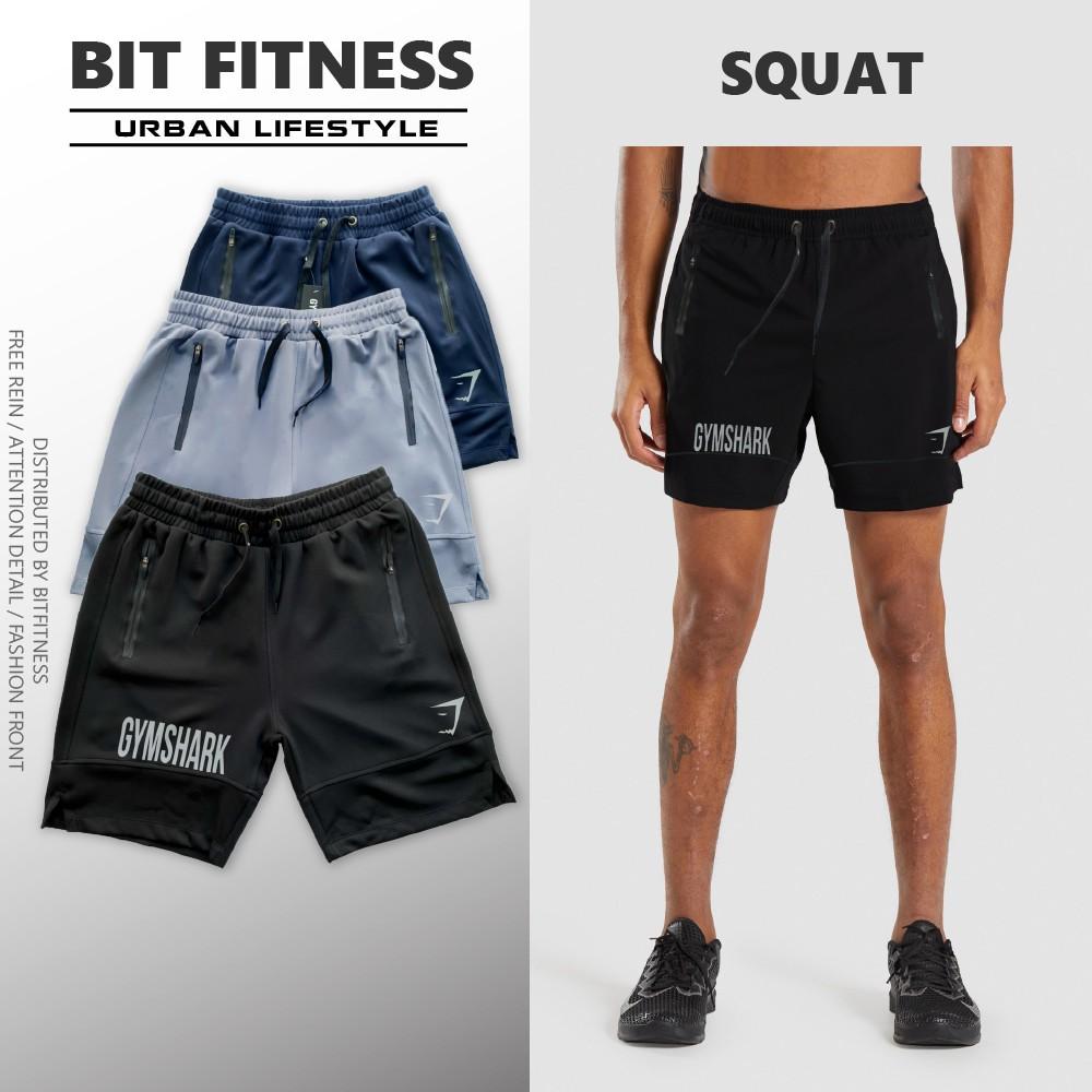 Quần short tập gym Gymshark logo phản quang, khóa chống nước - Quần đùi thể thao cao cấp - BiT Fitness Q.GS.2LG