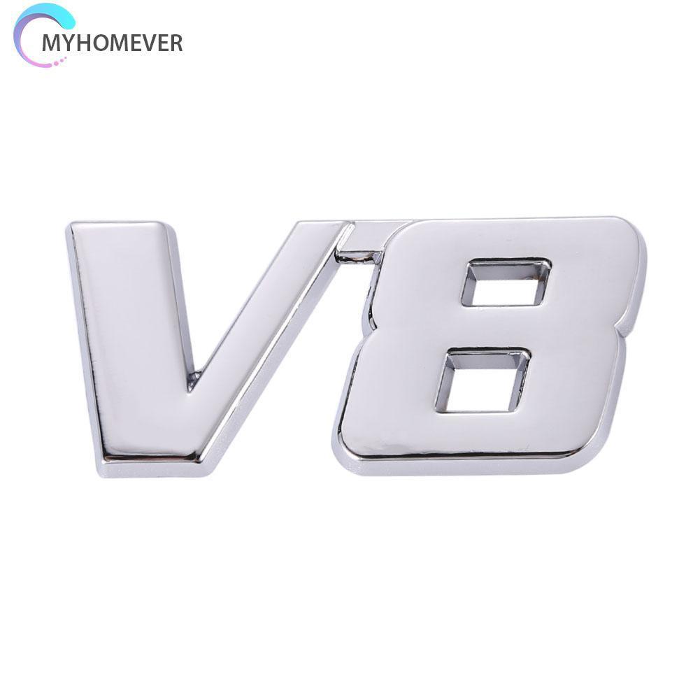 Miếng Dán Chữ 3d Trang Trí Đuôi Xe Hơi V8