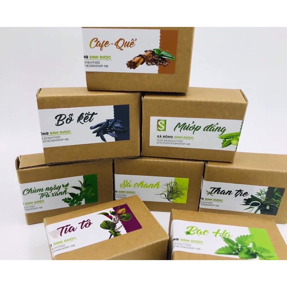 Sinh Dược-Xà bông Organic hữu cơ thảo mộc tự nhiên xà bông cục thiên nhiên sạch khuẩn mụn lưng mặt soap tự nhiên handmad