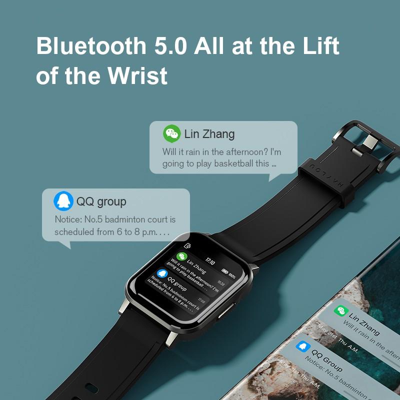 Đồng hồ thông minh đeo tay Haylou LS02 BT5.0 chống nước IP68 kèm 12 chế độ thể thao
