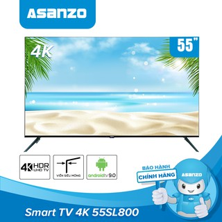 Smart Tivi 4K 55 inch Asanzo 55SL800 HDR Android