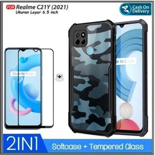 Ốp điện thoại mặt kính cường lực cứng chống sốc cho Realme C21Y 2021 thumbnail