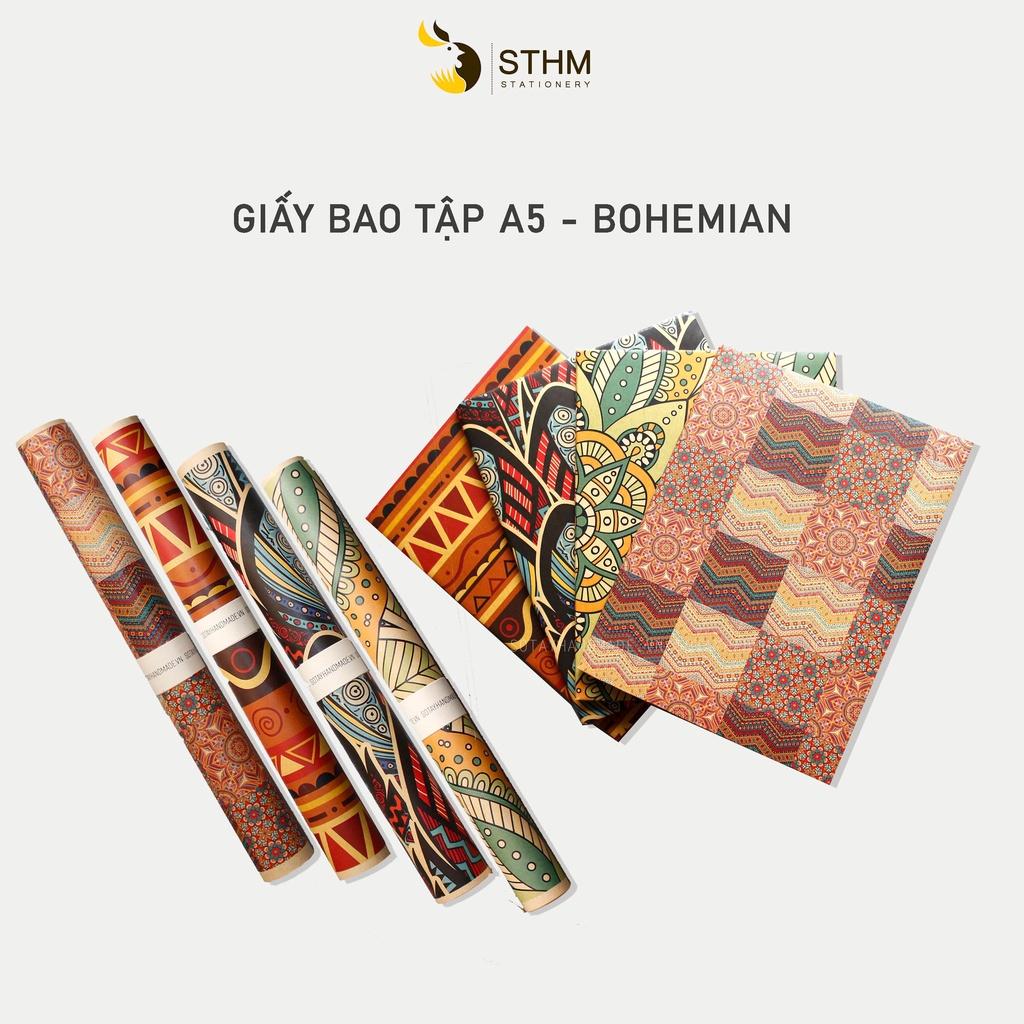 Giấy bao tập - Bohemian - Giấy kraft cao cấp - STHM stationery