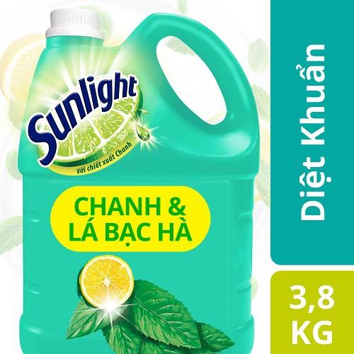 Nước rửa chén Sunlight Diệt Khuẩn MỚI chanh và lá bạc hà, chai 3.8kg(MSP 67403044) - 3209954 , 1263257819 , 322_1263257819 , 112000 , Nuoc-rua-chen-Sunlight-Diet-Khuan-MOI-chanh-va-la-bac-ha-chai-3.8kgMSP-67403044-322_1263257819 , shopee.vn , Nước rửa chén Sunlight Diệt Khuẩn MỚI chanh và lá bạc hà, chai 3.8kg(MSP 67403044)