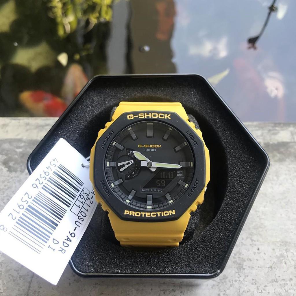 Đồng hồ Nam Dây Nhựa Casio G-Shock GA-2110SU-9A chính hãng bảo hành 5 năm Pin trọn đời