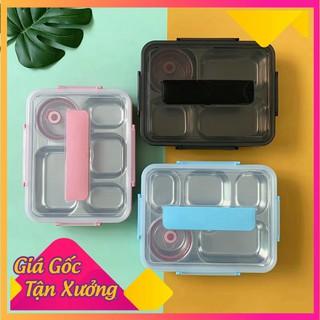 [GIÁ GỐC] [XẢ KHO] Hộp cơm Lunch Box Inox 5 Ngăn có nắp đậy Kèm Đũa Thìa siêu đẹp, tiện lợi