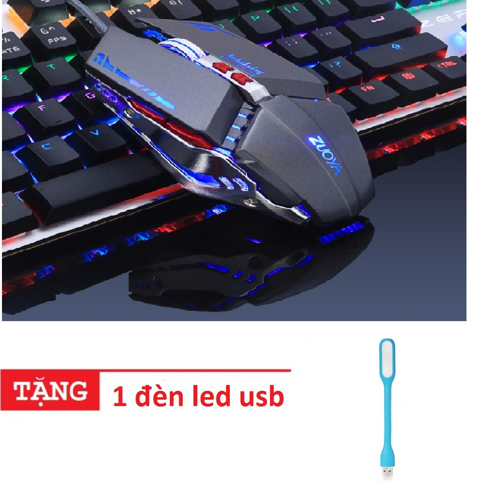 Chuột chơi game Chuột ZUOYA 8 nút Smart Macro LED quang USB tặng 1 đèn led usb -dc2595