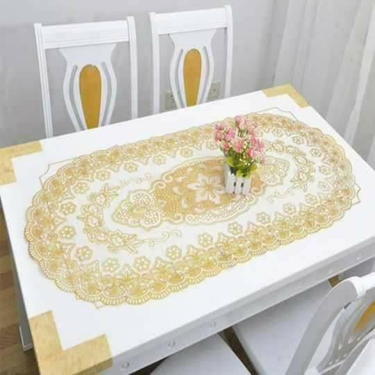 Khăn trải bàn dập hoa nổi 1mx60cm