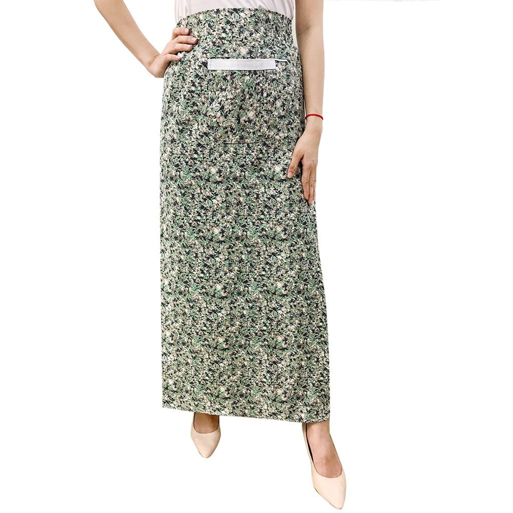 [được chọn mẫu] Váy chống nắng freeSize kaki xẻ tà trước VKXT0008