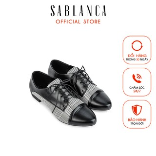 Giày mọi phối da họa tiết caro - Sablanca 5050MO0012