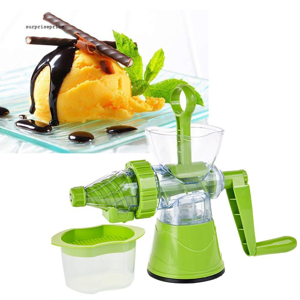 SPP_Multifunctional Manual Fruit Ice Cream Machine Crank Juicer Extractor Squeezer
