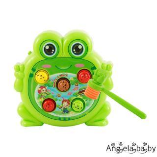 ⓗღ✯Whack A Frog Game Hammers Baby Interactive Toys Fun Activities Games with Music and Light Early Development Toy
