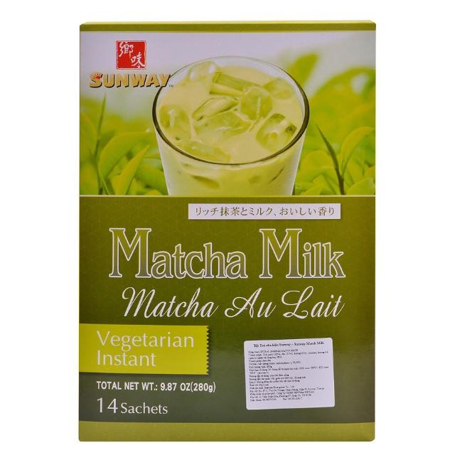Bột Trà Sữa Trà Xanh Sunway Match Milk (14 Gói x 20g)