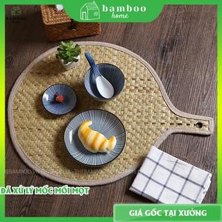 Tấm lót bàn ăn THE BAMBOO chất liệu cói – lót bàn ăn mây tre
