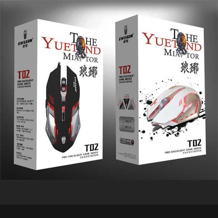 Chuột chuyên game 6D dây dù - LED 7 màu EWEADN T02 Wired 2400DPI
