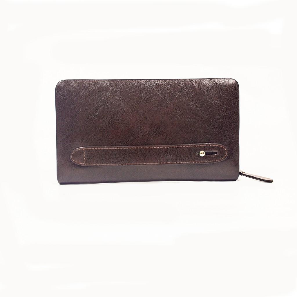 Ví dài nam Bụi Leather C104 da bò mill cao cấp