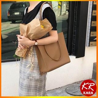 (Kèm ví nhỏ) Túi Tote da nữ đeo vai KR 391- Da PU cao cấp, Dáng vuông, Size 28 vừa A4, Đeo vai, 2 màu lựa chọn- KARA 391