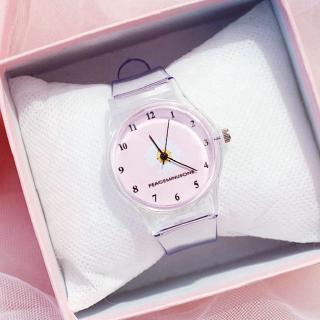 Đồng hồ đeo tay mặt họa tiết hoa cúc xinh xắn cho nữ