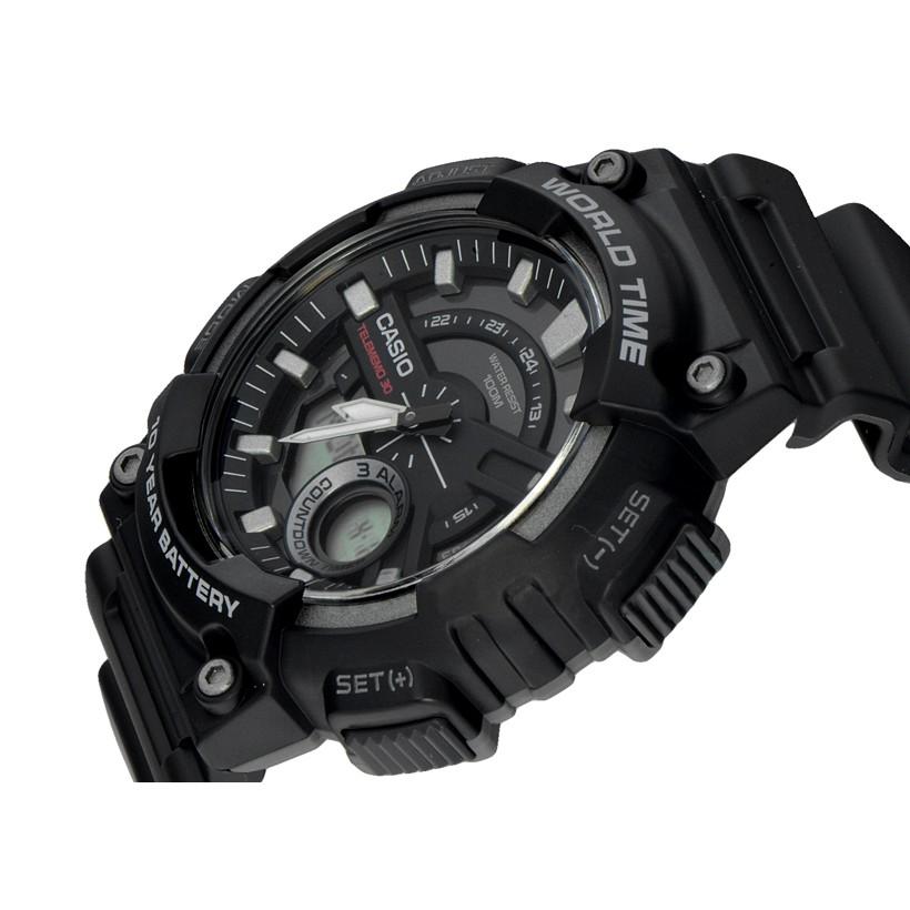 Đồng hồ nam dây nhựa Casio chính hãng Anh Khuê AEQ-110W-1BVDF