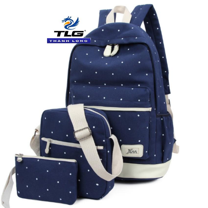 Bộ 3 ba lô thời trang phong cách Đồ Da Thành Long TLG HQ205966