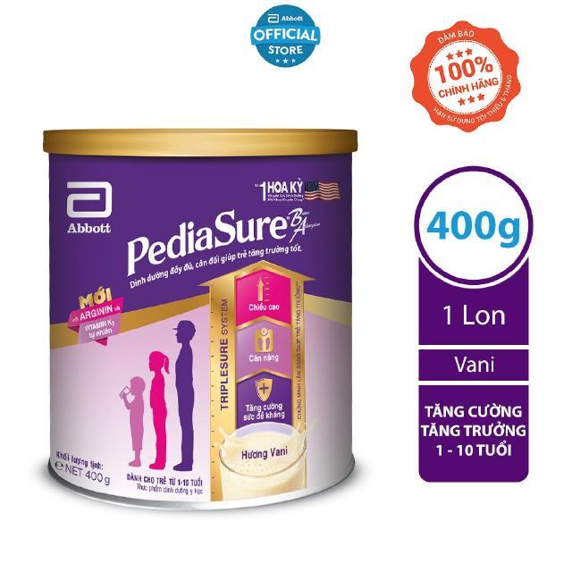 [Mã FMCGHOT giảm 10% đơn từ 400K] Sữa bột Pediasure 400g hương vani